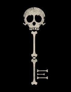 Skeleton Key Art Print by Thomas Sullivan . inspiring perspective on bones for design Memento Mori, Totenkopf Tattoos, Keys Art, Illustration, Skull And Bones, Skull Art, Macabre, Dark Art, Sugar Skull