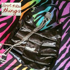 Flirty Black Purse Shiny Black Bags Shoulder Bags