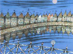 Jan Baker - Arabisk by IV (variant) Taj Mahal, Berlin, Louvre, Fine Art, Building, Travel, Kunst, Pictures, Viajes