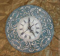 """Купить Часы настенные интерьерные """"Барокко"""" декупаж - часы настенные, часы интерьерные, часы для дома Make A Clock, Diy Clock, Milk Carton Crafts, Art Decor, Decoration, Wall Watch, Funky Painted Furniture, Clock Shop, Clock Art"""