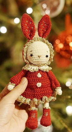 42 Lovely Cute Amigurumi Dolls and Animal For This Season Ideas 2019 Part 8 : 42 Lovely Cute Amigurumi Dolls and Animal For This Season Ideas 2019 Part amigurumi doll pattern free; Diy Crochet Toys, Crochet Patterns Amigurumi, Amigurumi Doll, Crochet Dolls, Knitted Bunnies, Crochet Bunny, Cute Crochet, Doll Patterns Free, Free Pattern