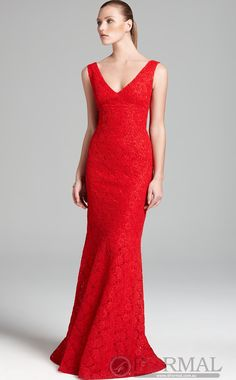 Beautiful Red Long Mermaid Formal Dress (JTAU-0173)