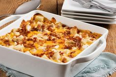 Everyone likes cheesy potatoes, especially when bacon and onions are involved. And as the head chef, you'll be enamored with how easy they are to make.