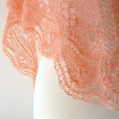 Fickle Knitter Simple Triangle Shawl Knitting Pattern