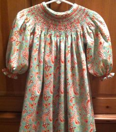 Smocked Bishop long sleeve for Lottie.  Can't wait for cooler days.