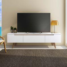 Este rack com design minimalista vai deixar a sua sala de estar com ainda mais requinte e elegância.
