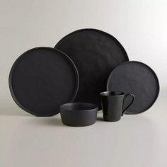 Black Ceramic plate set, makes your food pop! #lglimitlessdesign #contest