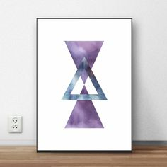 Modern geometric printable wall art.
