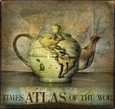 globe teapot by HeedingtheMuses, via Flickr