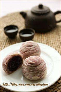 Purple yam swirl pastry 紫薯酥 - tutorial