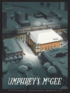Umphrey's McGee New Year's shows Chicago Poster by Justin Santora