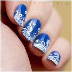 Diadem 253 + acrylic paint  #nails #nailart