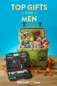 Treat him to something special this holiday season with great gift ideas from Walmart. From flannels that keep him warm to coolers to keep his drinks cold, these top gifts are sure to make this Christmas very merry. Shop the Top Gifts for Men today.  Top Gifts for Men include: Men's Faded Glory Long Sleeve Flannel, Hyper Tough 116-Piece Home Repair Kit, Hyper Tough 63-Piece Ratchet Set, Beats Solo3 Wireless Headphones.