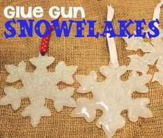 Glue Gun Snowflakes - So cool! you make these with hot glue! by LiveLoveLaughMyLife
