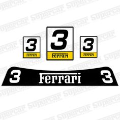 Ferrari 430 Race Number Plates and Windshield Banner Decal Kit
