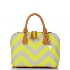 c6477831e1 Vivian Chevron Stripe Dome bag by Brahmin
