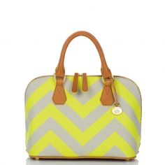 Vivian Chevron Stripe Dome Satchel: ($295)