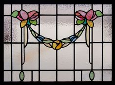 Antique Stained Glass Flowers