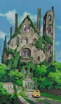 Lupin III - Cagliostro's Castle (Miyazaki movie, before Ghibli). Hayao Miyazaki, Studio Ghibli Background, Animation Background, Totoro, Personajes Studio Ghibli, Studio Ghibli Art, All Studio Ghibli Movies, Japon Illustration, Castle Illustration