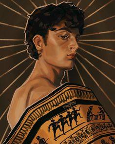 Greek And Roman Mythology, Greek Gods, The Song Of Achilles, Greek Memes, Achilles And Patroclus, Fan Art, Book Fandoms, Ancient Greece, Book Characters