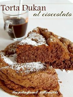 Torta Dukan al cacao poche calorie Sweets Recipes, Cake Recipes, Healthy Recipes, The Science Of Cooking, Powder Recipe, Different Cakes, Chocolate Blanco, Dukan Diet, Healthy Cake