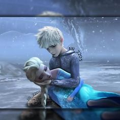 This is so sad :,( Elsa is dead in Jack's arms and he's crying because he lost his love  (excuse me while I cry in the corner) Manny better bring her back to him!