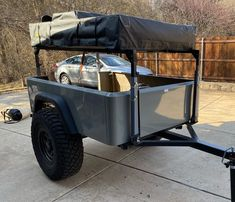 Kyle is in the home stretch on his fourth DIY Dinoot Jeep Trailer, just finished fitting his tub kit.
