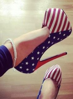 Be patriotic and look cute....I'm down.