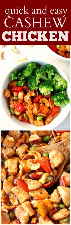 Quick and Easy Cashew Chicken Recipe -better than takeout Asian chicken with cashew and vegetables! Quick, easy and flavorful!