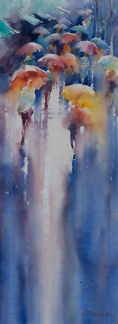 by Viktoria Prischedko #watercolor jd
