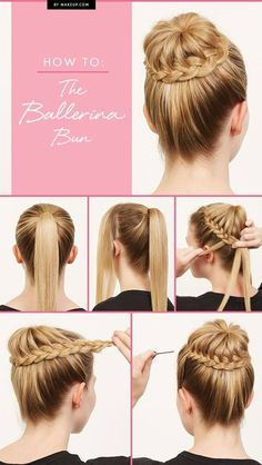 20 pretty braided updo hairstyles including the Ballerina bun hair tutorial by Popular Haircuts #HairGutorial #Hair #Beauty #Bun #BallerinaBun #PopularHaircuts #BraidedUpdoHairstyles #Hairstyles