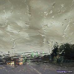 Rain on the glass pane