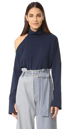 14961c6b6a63a TIBI Asymmetrical Cutout Shoulder Top.  tibi  cloth  dress  top  shirt