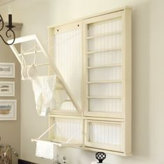 Laundry Drying Rack...would be great for drying washcloths before you can launder them.