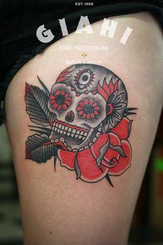 mama tried on pinterest sugar skull sugar skull tattoos and arrow compass tattoo. Black Bedroom Furniture Sets. Home Design Ideas