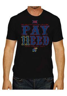 a2c65b768 Kansas Jayhawks Mens Short Sleeve Fashion T-Shirt - Black