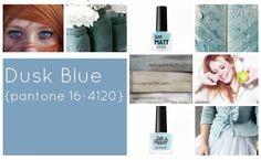 #coloroftheweek Pantone 16-4120 Dusk Blue: un bellissimo punto di blu freddo che deve il suo nome alle sfumature del cielo al crepuscolo. Per il make up, sta benissimo a tutte le carnagioni, in particolare alle rosse naturali.