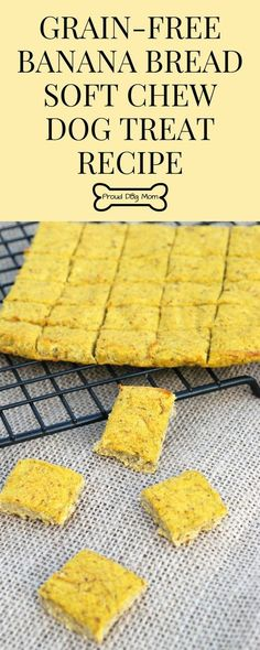 Banana Bread Soft Chew Dog Treat is part of Banana Bread Soft Chew Dog Treat Recipe Proud Dog Mom - Since these soft chew dog treats don't require any jaw power to chomp through, they're perfect for both baby and senior Fido … and every age in between! Soft Dog Treats, Dog Treats Grain Free, Puppy Treats, Diy Dog Treats, Homemade Dog Treats, Dog Treat Recipes, Healthy Dog Treats, Dog Food Recipes, Banana Dog Treat Recipe
