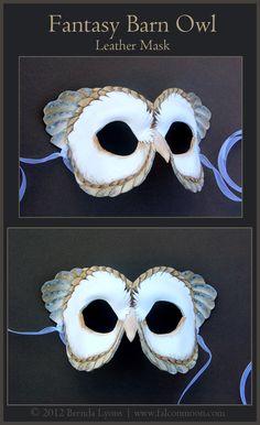 (Fantasy Barn Owl - Leather Mask by windfalcon)