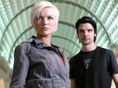 Abby and Connor (Hannah Spearritt and Andrew-Lee Potts married in real life :] )