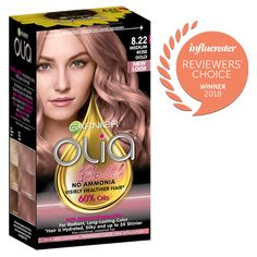 Discover permanent rose gold hair color & hair dye made with natural flower oils. Olia restores damaged hair for silky, shiny hair and more vibrant hair color. Olia Hair Color, Hair Color For Fair Skin, Pastel Ombre, Dyed Hair Pastel, Rose Gold Hair Dye, Gold Hair Colors, Hair Color Purple, Hair Color Highlights, Balayage Highlights