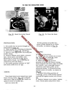 Singer 327K And 328K Sewing Machine Service Manual. Examples include: * Timing hook * Needle bar height and location * Adjusting needle thread tension * Hook Timing * Adjusting cam stack * Wiring diagram * Lubrication and oiling * Hints for adjusters and mechanics * Much more! 47 page service manual Great diagrams! Share This: