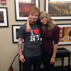 When he looked adorable next to his friend, Tay Tay. | 41 Times Ed Sheeran Made Your Day Better
