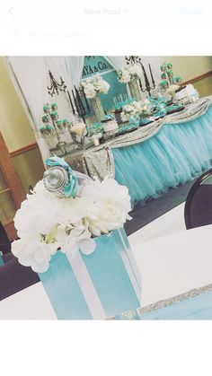 Tiffany & Co. Baby Shower Party Ideas | Photo 1 of 8