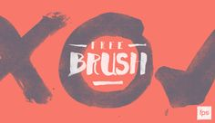 Free handwritten brush font set for Photoshop created for our website https://www.fps.hu #typography #handwritten #font