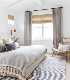 This serene boho bedroom by Amber Interiors is recreated for less by copycatchic. This serene boho bedroom by Amber Interiors is recreated for less by copycatchic luxe living for less budget home decor and design room redos Bedroom Windows, Cozy Bedroom, Trendy Bedroom, Serene Bedroom, Bedroom Neutral, Budget Bedroom, Bedroom Beach, Bedroom Colors, Grey Curtains Bedroom