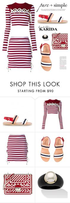 """""""Fratellikarida.com: pure+simple"""" by hamaly ❤ liked on Polyvore featuring House of Holland, Prada, Palm Beach Jewelry, outfit, shoes, ootd and FratelliKarida"""