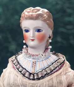 M'Lady - Margaret Hartshorn Collection: 66 Exceptional German Bisque Lady with Ornately Sculpted Bodice and Glass Eyes