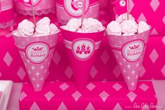 Pink Princess Crown Theme Birthday Party Ideas | Photo 7 of 68 | Catch My Party