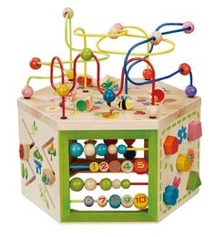 Non-Toxic Alternatives to Baby Exersaucers: EverEarth 7-in-1 Activity Cube #nontoxic #baby